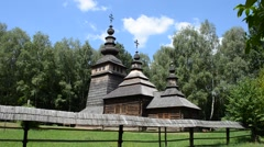 Church in the wood Stock Footage