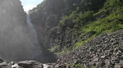 The Njupeskar waterfall Stock Footage
