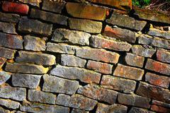 old stonework - stock photo