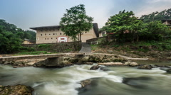 Fujian(yongding) earth buildings which were built for defensing against bandits Stock Footage