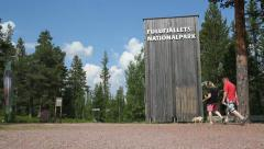 Entrance to Fulufjallet national park Stock Footage