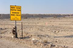 Danger Mines! - stock photo