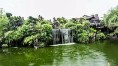 Stock Video Footage of The pond in famous private garden in Guangdong province, China