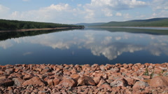 Dam for producing electricity Stock Footage