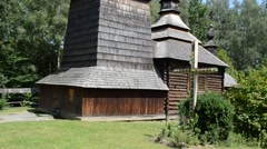 Wooden church Stock Footage