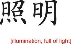 Stock Illustration of Chinese Sign for illumination, full of light