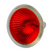 red halogen electric lamp, isolated - stock photo