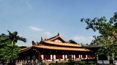 Walking from far to near to the main hall in Guangxiao Temple. Stock Footage