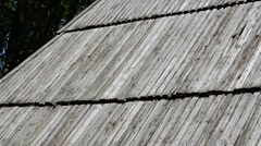 Roof of the ancient house. Stock Footage