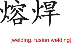 Chinese Sign for welding, fusion welding Stock Illustration