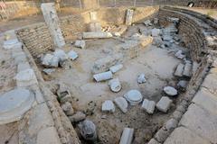 Remains of the Roman Basilica Stock Photos