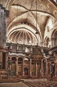 Interior of the Church of the Holy Sepulchre - stock photo