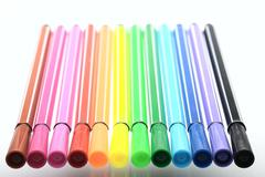 Felt pen, isolated Stock Photos