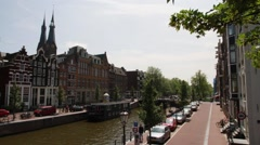 Time-lapse Amsterdam canal Stock Footage
