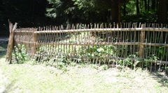 Fence in ancient style. Stock Footage