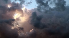 Time-lapse of a dramatic Dutch sky with dark clouds - stock footage