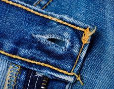 Blue Denim Jeans - stock photo