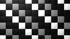 Matte Squares Pattern VJ Loop 14 Stock Footage