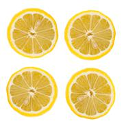 Citric cross section with seed Stock Photos