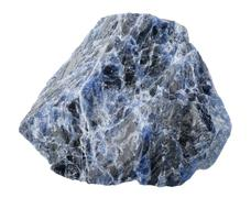 Mineral collection: sodalite. Stock Photos