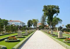 Bahai Gardens near Acre Stock Photos