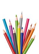 Bunch of colored pencils Stock Illustration