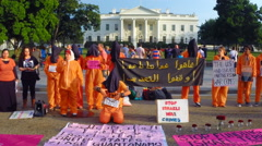 1 - Guantanamo Bay protest at the White House in Washington, DC Stock Footage