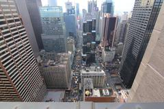 NEW YORK CITY ROOFTOP VIEW - stock photo