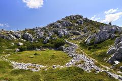 mountains at Biokovo - stock photo