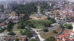 Aerial Brazil- Monument to the Independence of , So Paulo, Stock Footage