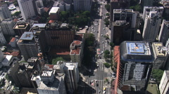 Aerial Brazil- Downtown So Paulo, So Paulo, Stock Footage