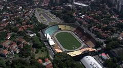 Aerial Brazil- Estadio Municipal - Municipal Stadium, So Paulo, Stock Footage