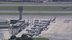 Aerial Brazil- Congonhas Airport, So Paulo, Stock Footage