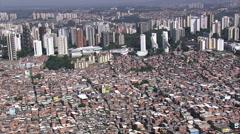 Aerial Brazil- Paraisopolis Favela, So Paulo, Stock Footage