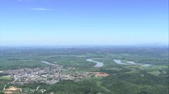 Aerial Brazil- Sete Barras, Sete Barras, Stock Footage