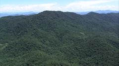 Aerial Brazil- forested ridge, Rio de Janeiro, Stock Footage