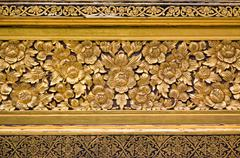 traditional Thai style molding art - stock photo