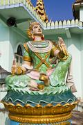 Deva statue in myanmar style molding art - stock photo