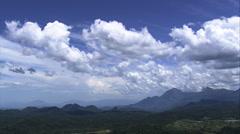 Aerial Brazil- cloudscape approaching Serra do Mar, Rio de Janeiro, Stock Footage