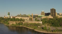 Ottawa Canada River Skyline Aerial Stock Footage