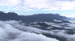 Aerial Brazil- Clouds over Serra da Graciosa, Parana, Stock Footage