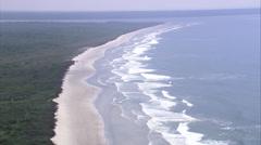 Aerial Brazil- Parque Nacional do Superagui, Paranagu, - stock footage