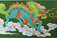 Chinese traditional kirin pattern Stock Photos