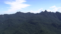 Aerial Brazil- dedo de deus - finger of God, Rio de Janeiro, Stock Footage