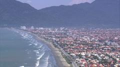 Aerial Brazil- Peruibe, Perube, Stock Footage