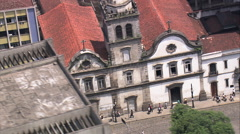 Aerial Brazil- Convent of our Lady of Mount Carmel, Santos, Stock Footage