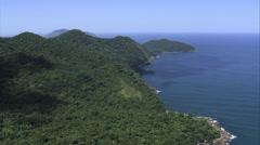 Aerial Brazil- Ilhabela and coastline, Ilhabela, Stock Footage