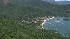 Aerial Brazil- Vila do Abrao, Angra dos Reis, Stock Footage
