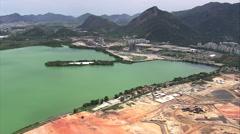 Aerial Brazil- Olympic Village under construction, Rio de Janeiro, Stock Footage