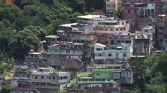 Aerial Brazil- Vidigal Favela, Rio de Janeiro, Stock Footage